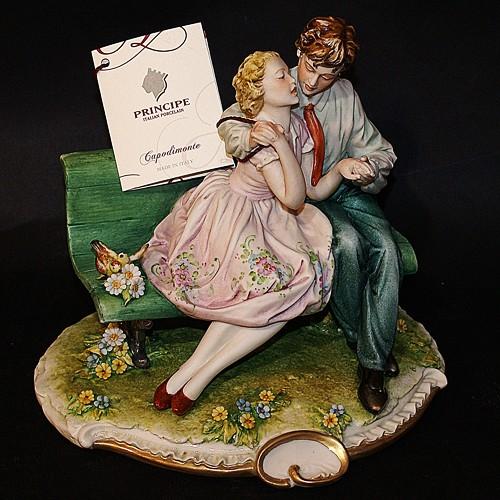 Фарфоровая статуэтка «Влюбленные» Porcellane Principe