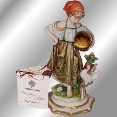 Фарфоровая статуэтка «Птичница»