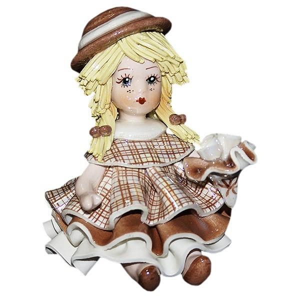 Фарфоровая статуэтка «Девочка с цветами» Zampiva