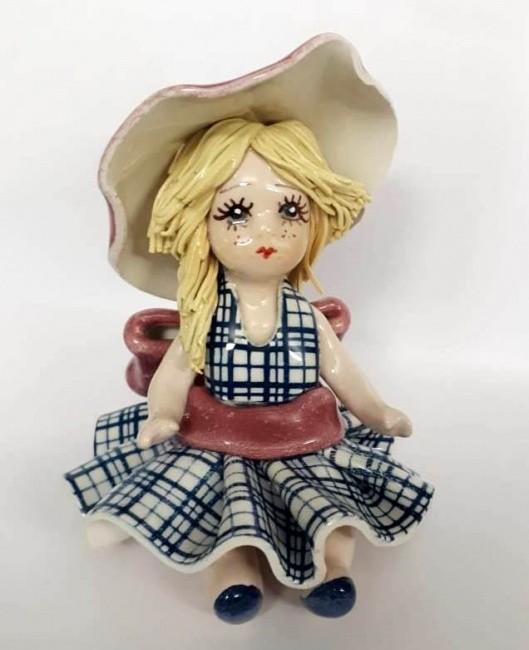 Фарфоровая статуэтка «Кукла в синем платье» Zampiva