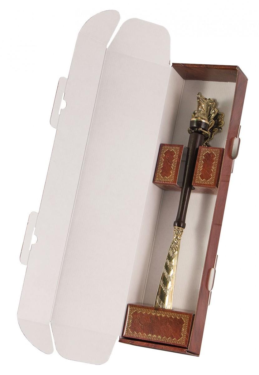 Рожок для обуви «Лошадь» с крючком «Дубовый лист»