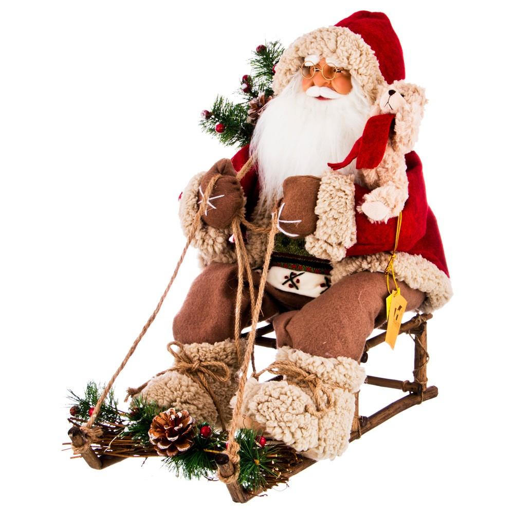 Новогодняя кукла «Дед Мороз на санях»