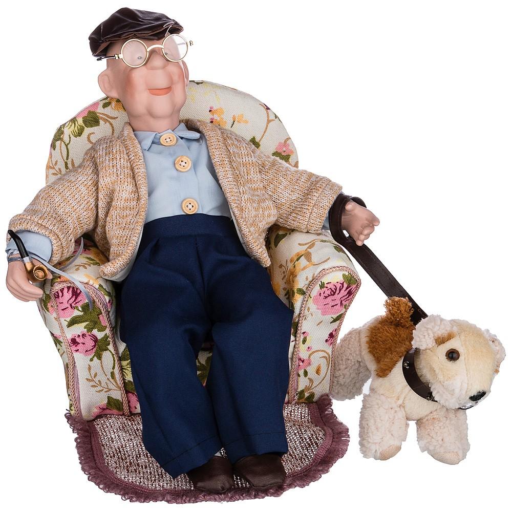 Фарфоровая кукла «Дедушка»