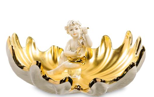 Фарфоровая статуэтка «Ангел на раковинах» S. V. Sabadin