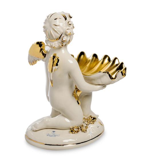 Фарфоровая статуэтка «Ангел с ракушкой» S. V. Sabadin