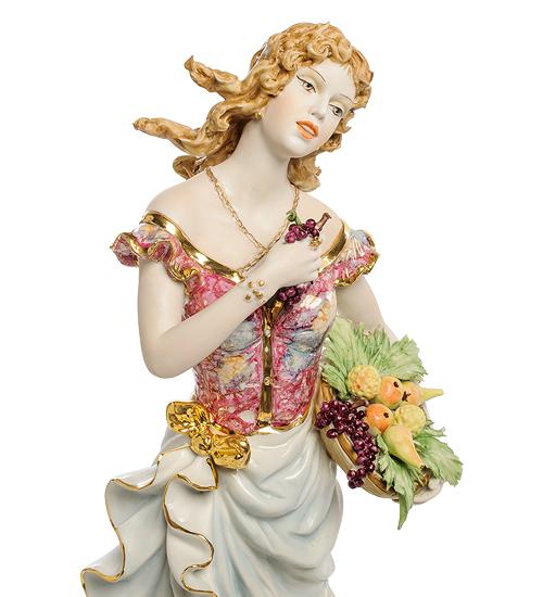 Фарфоровая статуэтка «Девушка осень» S. V. Sabadin