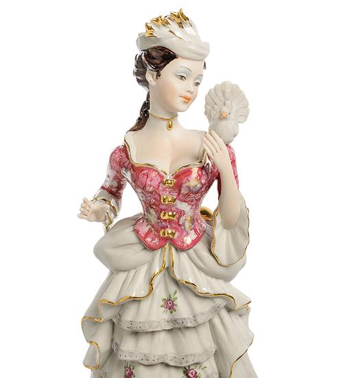 Фарфоровая статуэтка «Дама с голубем» S. V. Sabadin