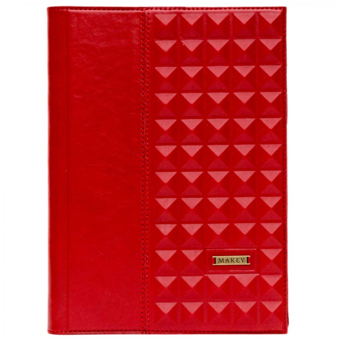 Ежедневник А5 «Геометрия» красного цвета