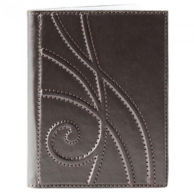 Обложка для автодокументов «Ар-Нуво» (коричневый)