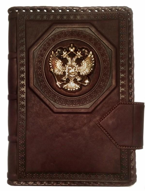 Ежедневник А5 «Империя 2» коричневого цвета