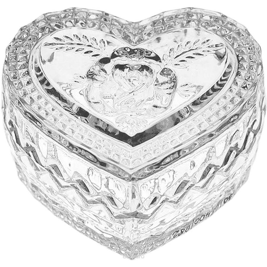 Хрустальная шкатулка Crystal Bohemia «Сердце» (мал)