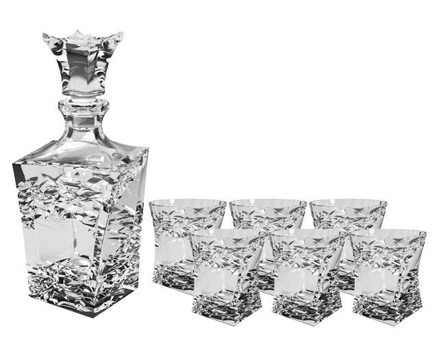 Набор для виски Crystal Bohemia, штоф и 6 бокалов