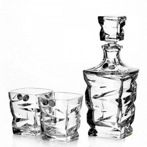 Подарочный набор для виски Crystal Bohemia, штоф и 6 бокалов