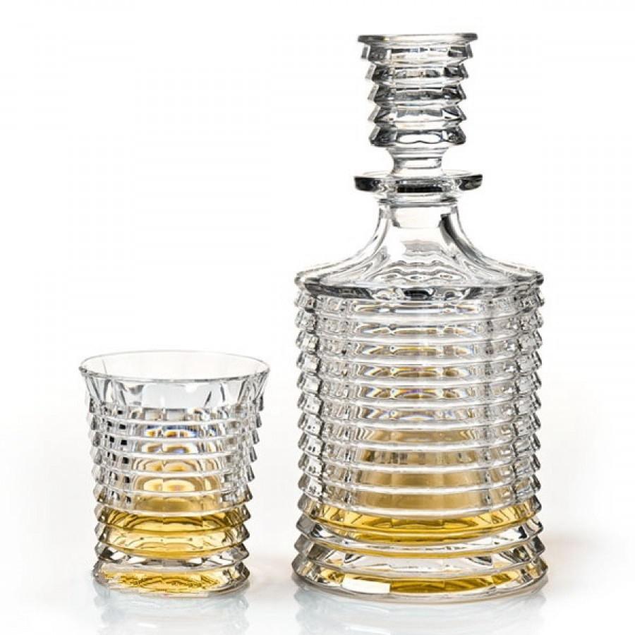 Подарочный набор для виски Crystal Bohemia, штоф и 6 бокалов, коллекция BLADE