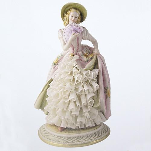 Фарфоровая статуэтка «Дама в шляпе» Porcellane Principe