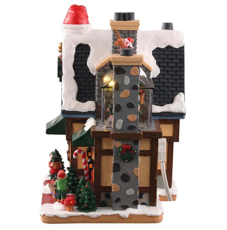 Lemax Новогодний домик с подсветкой «Питомник Северного полюса»