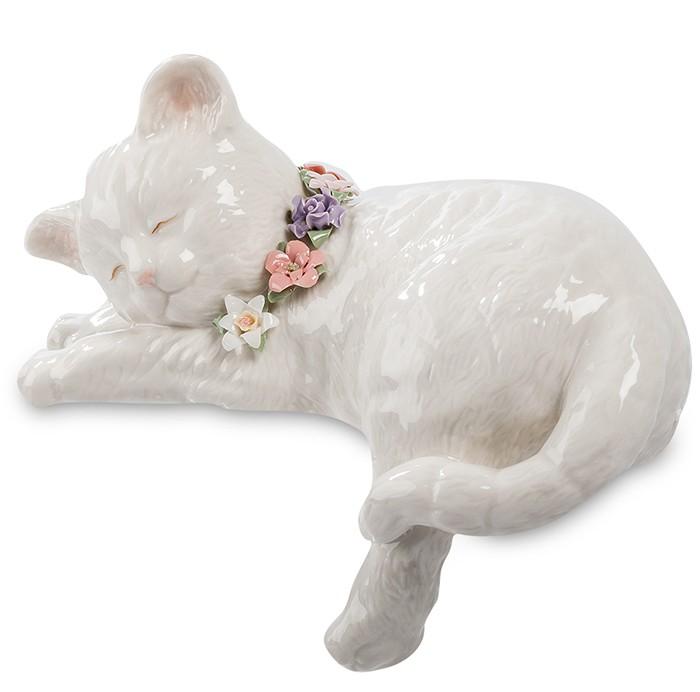 Фарфоровая статуэтка «Спящий кот»