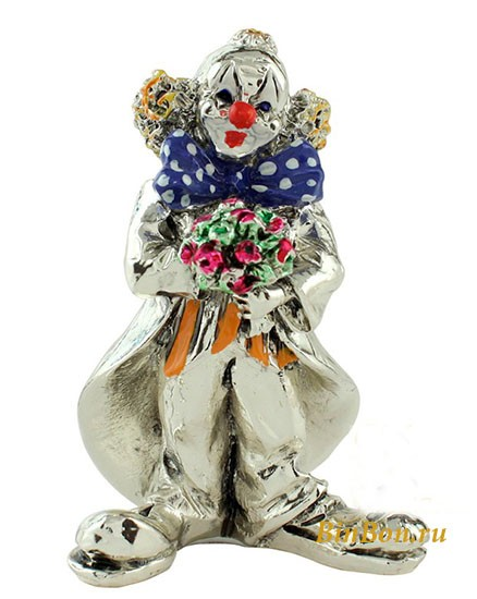 Статуэтка «Клоун с цветами»