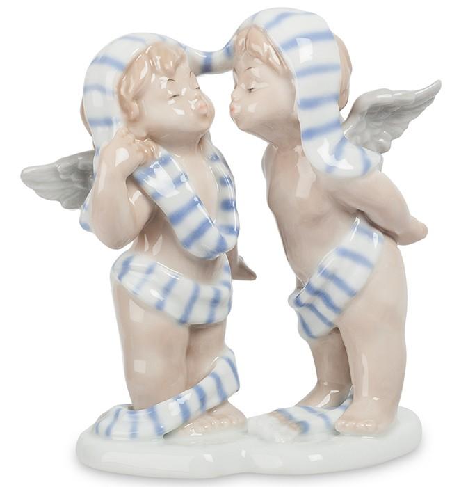 Фарфоровая статуэтка «Влюбленные ангелы»