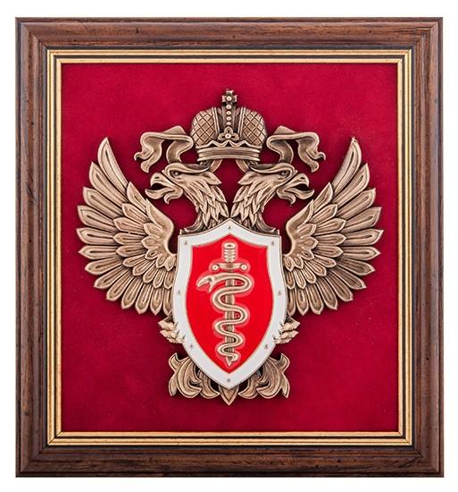 Подарочное панно ''Эмблема Федеральной службы по контролю за оборотом наркотиков''