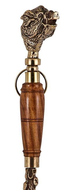 Набор для обуви подарочный «Денщик» (ложка для обуви с деревянной ручкой - кабан) Артикул: ВДНД-38кабан