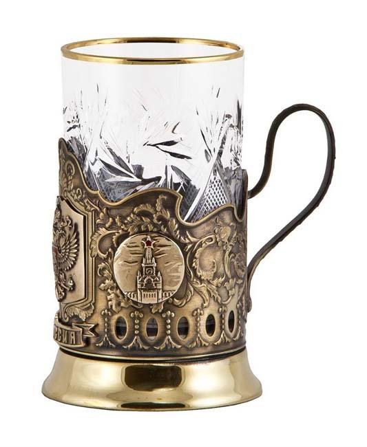 Подстаканник «Герб России» подарочный