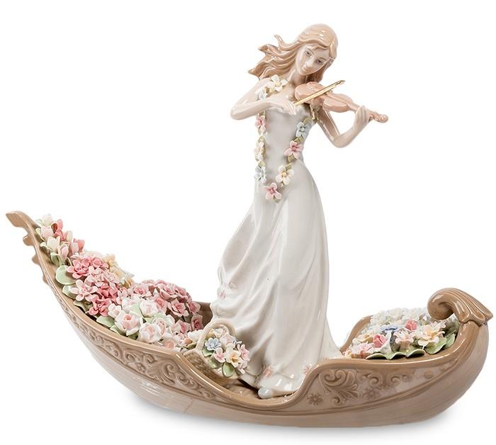 Фарфоровая статуэтка «Девушка скрипачка»
