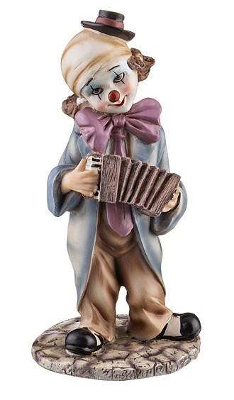 Статуэтка «Клоун с гармошкой»