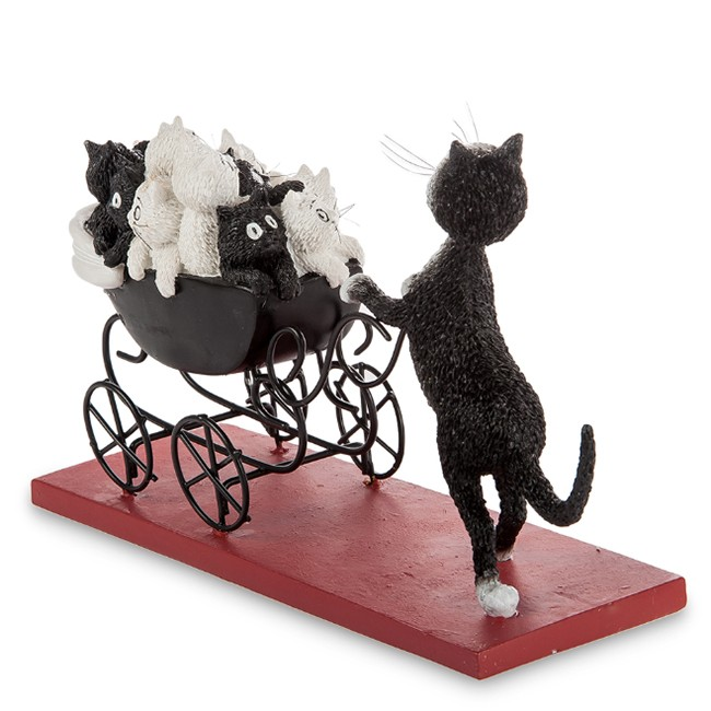 Статуэтка «Кошка с коляской»
