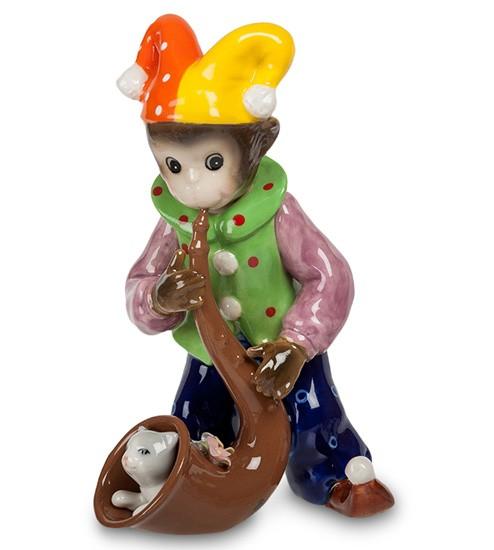 Фарфоровая статуэтка «Обезьяна с саксофоном»