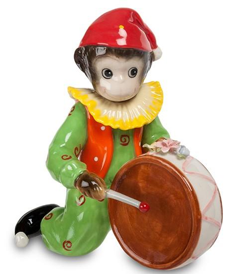Фарфоровая статуэтка «Обезьяна с барабаном»