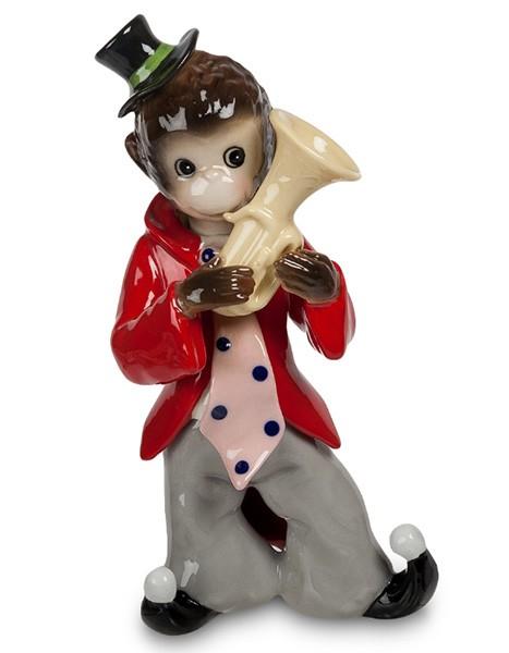 Фарфоровая статуэтка «Обезьяна музыкант»