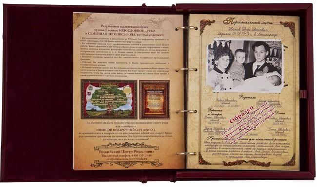 Родословная книга «Ювелирная»
