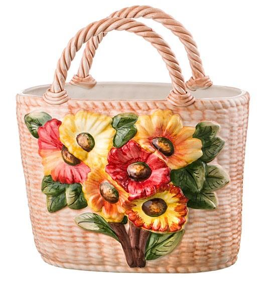 Декоративная корзина «Цветы»
