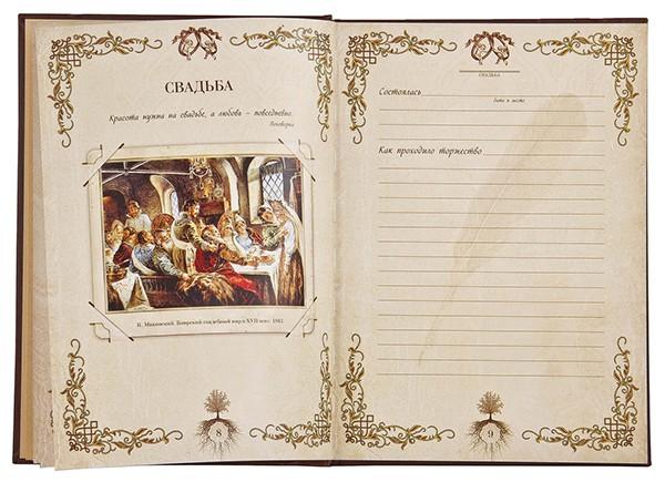 Книга подарочная «Семейная летопись»
