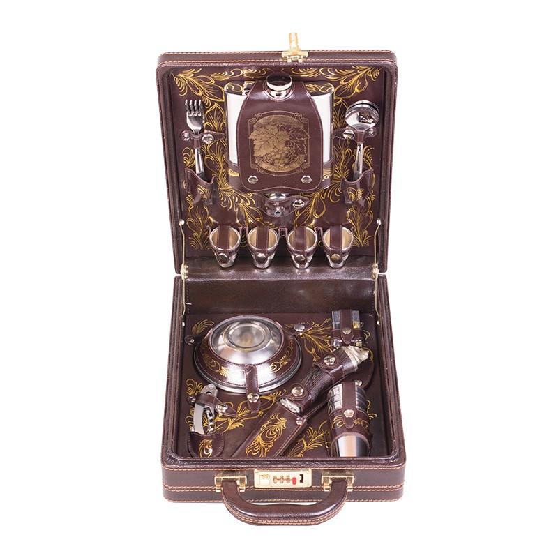 Подарочный набор для пикника «Коньячный» подарок мужчине
