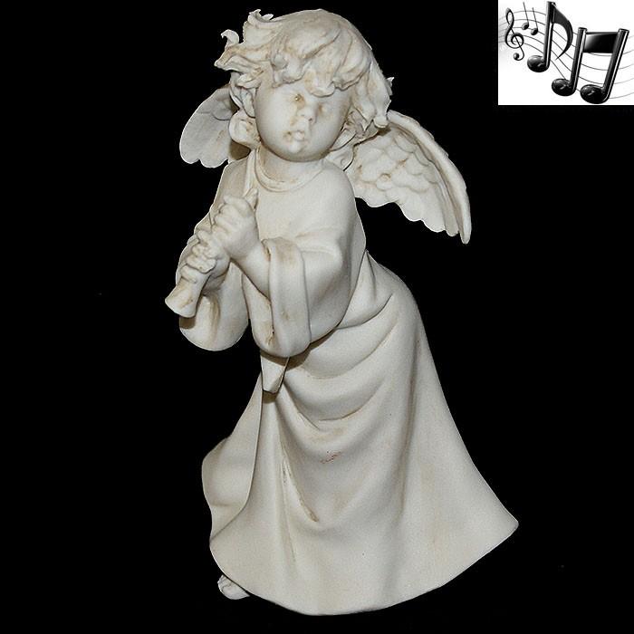 Фарфоровая музыкальная статуэтка «Ангел с дудочкой»