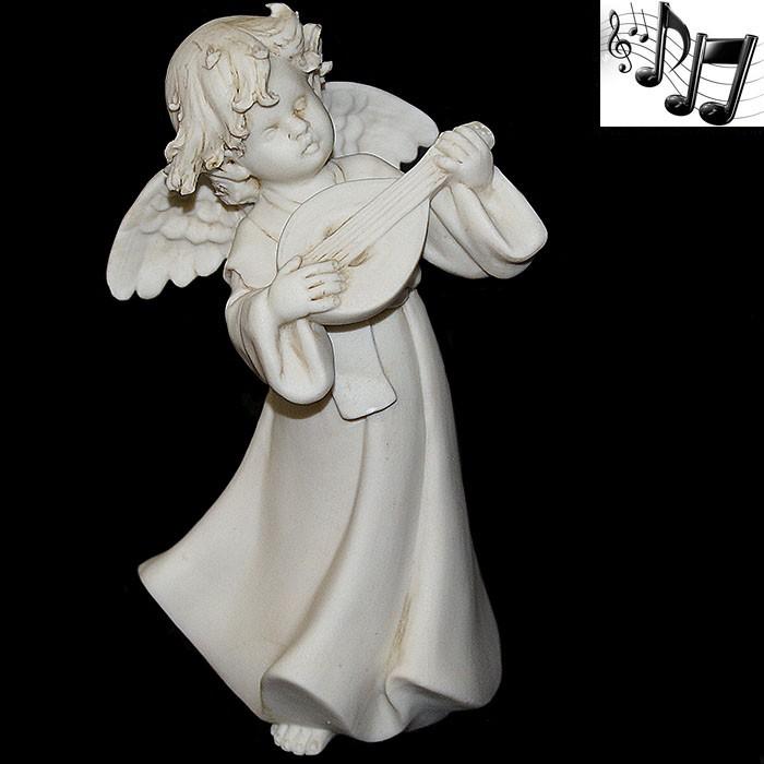 Фарфоровая музыкальная статуэтка «Ангел с мандолиной»
