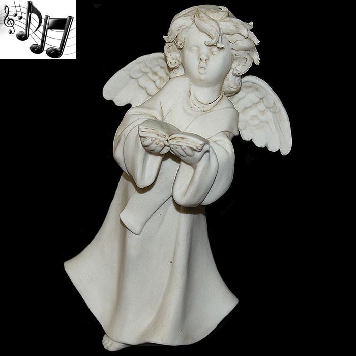Фарфоровая музыкальная статуэтка «Ангел с книгой»