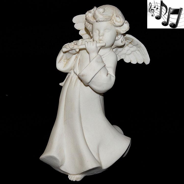 Фарфоровая музыкальная статуэтка «Ангел с флейтой»
