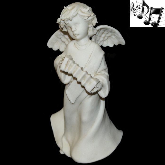 Фарфоровая музыкальная статуэтка «Ангел с гармошкой»