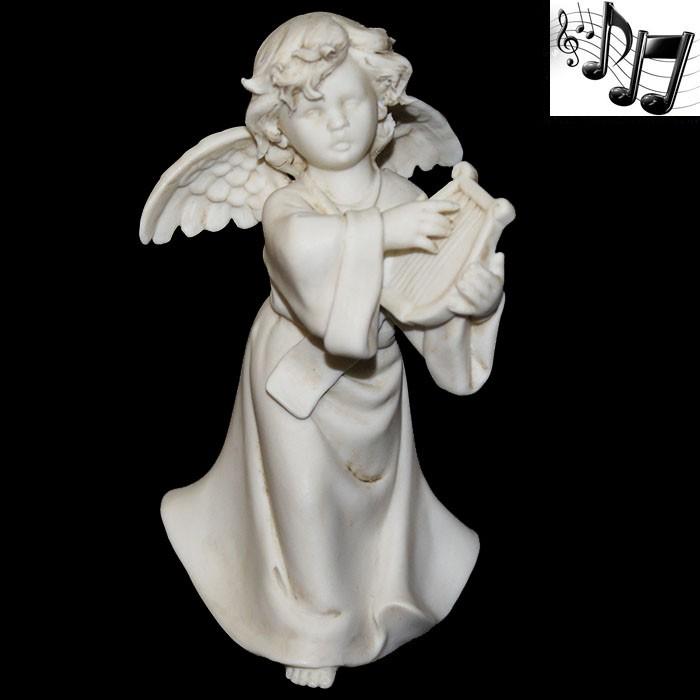 Фарфоровая музыкальная статуэтка «Ангел с арфой»