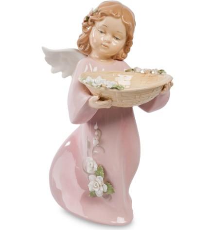 Фарфоровая статуэтка «Ангел с блюдом»