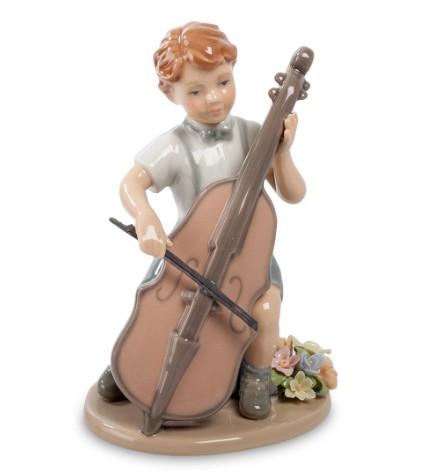 Фарфоровая статуэтка «Мальчик с виолончелью»