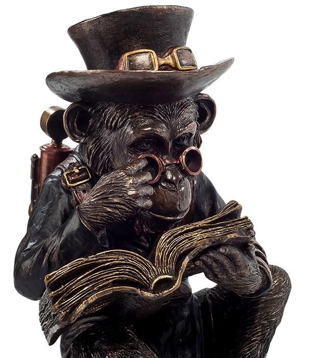 Статуэтка интерьерная «Читающая Обезьяна»