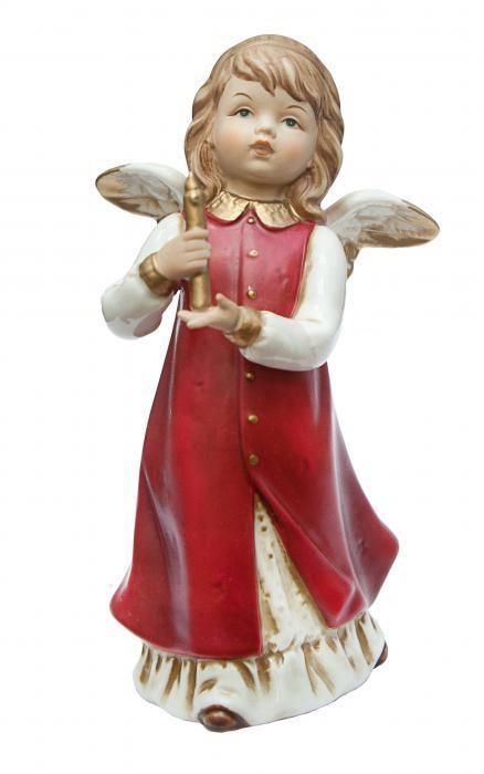 Фарфоровая статуэтка «Ангел со свечей»