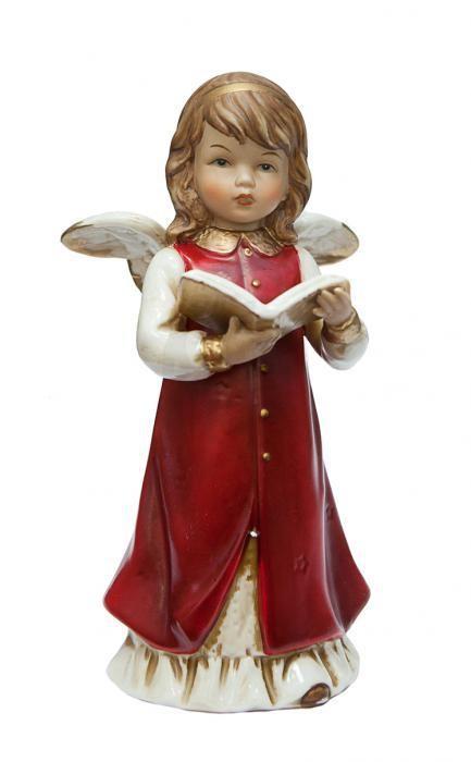 Фарфоровая статуэтка «Ангел с книгой»