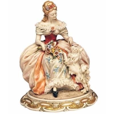 Фарфоровая статуэтка «Дама с собачкой» Porcellane Principe
