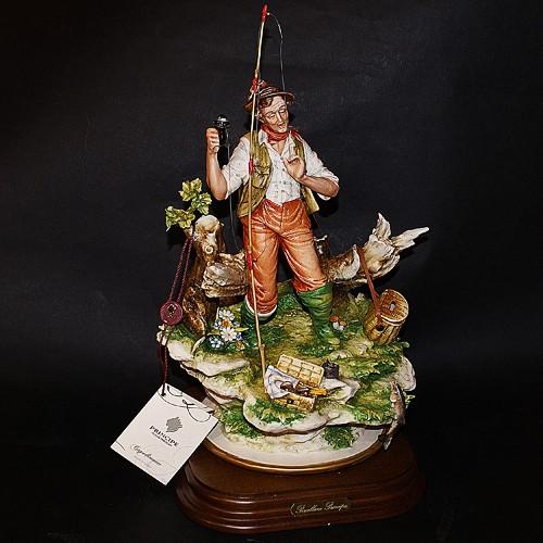 Фарфоровая статуэтка «Рыбак» Porcellane Principe