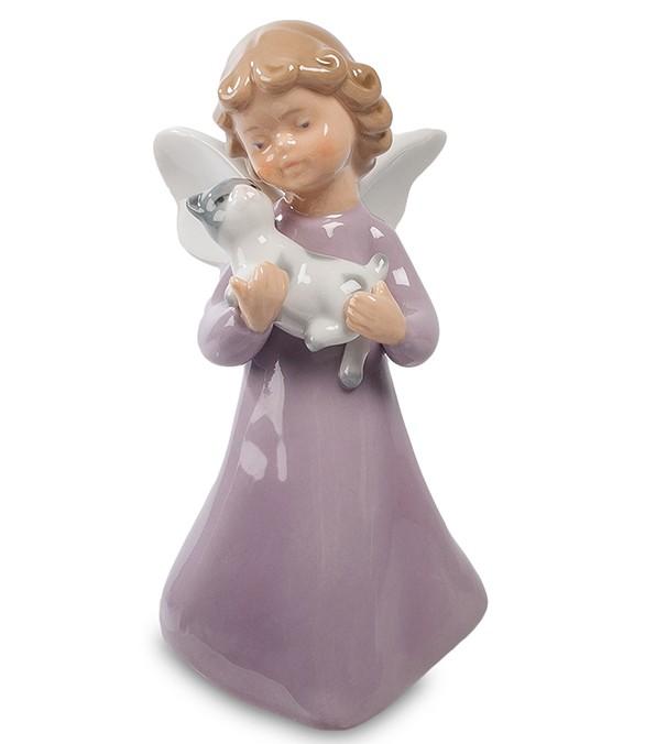 Фарфоровая статуэтка «Ангел с котенком»